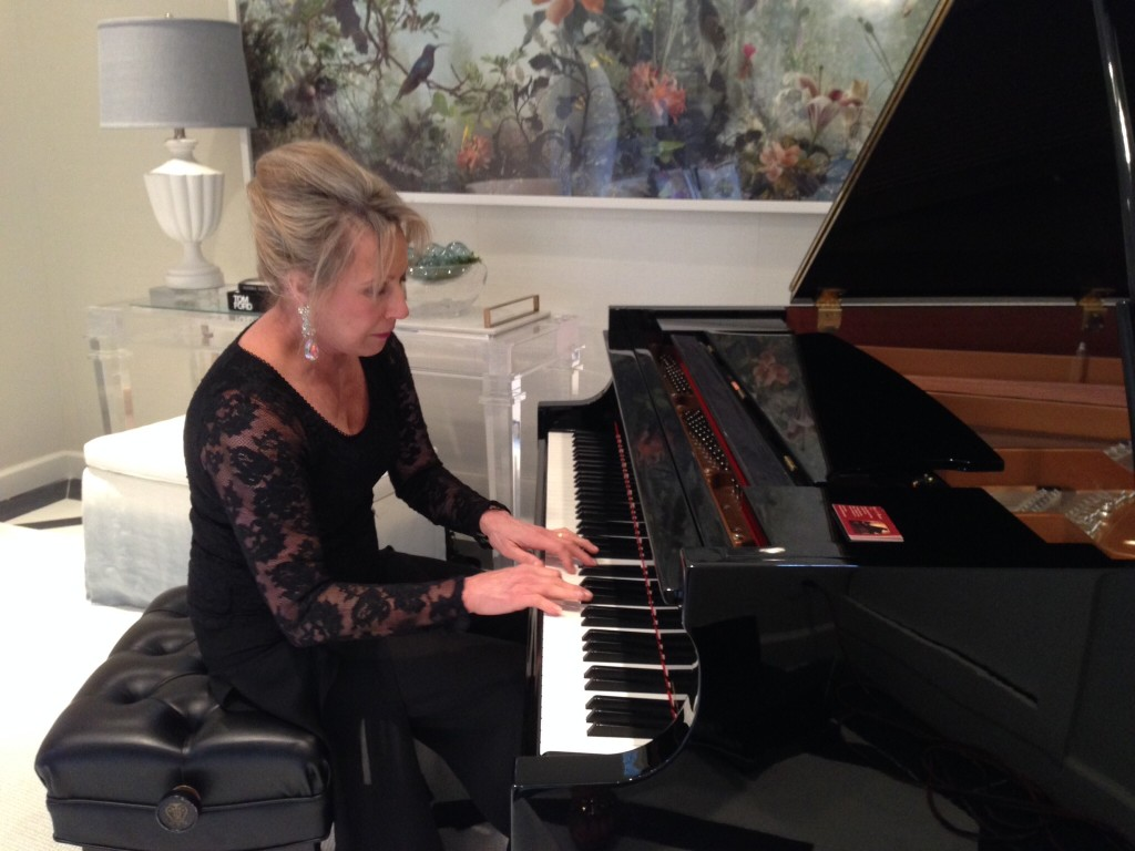 Karen as pianist at the 2014 Decorators' Show House